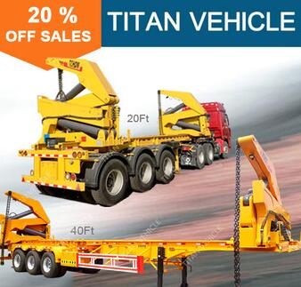 TITAN side load shipping container truck semi trailer