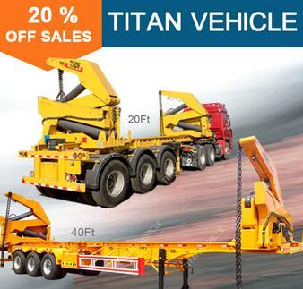 TITAN side load shipping container truck semi trailer