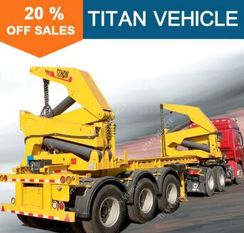 3 axis 40ft Container Trailer Side Loading Hydraulic Crane container lifting cranes side