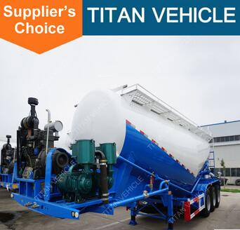 Titan 3 Axle Bulk Cement Trailer For Pakistan