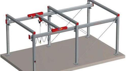 The variable-length two-rail gantry crane(P400)