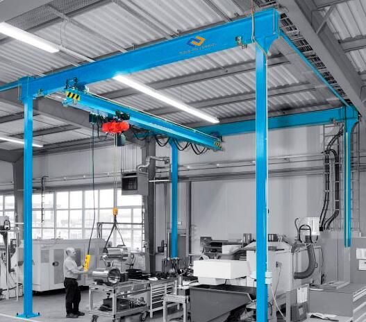 Two-rail gantry with an overhead crane(P300)