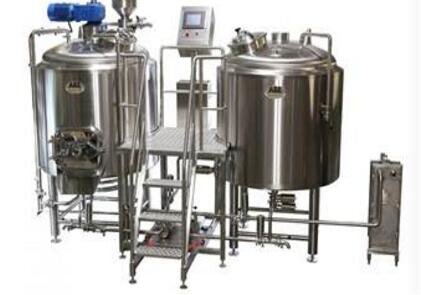 Stainless steel beer brewing equipment