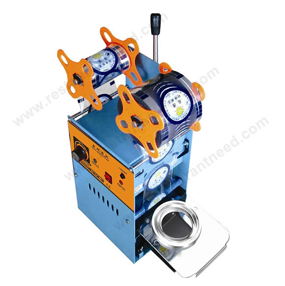 2016 Hot Sale Industrial 3 Sizes Boba Tea Cup Manual sealing machine
