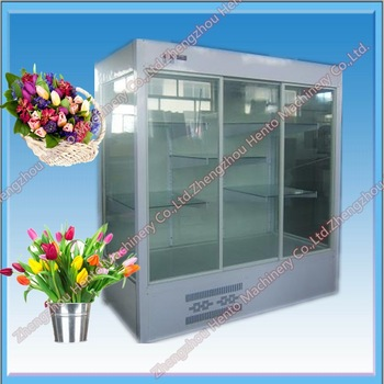 Showcase fresh stainless flower refrigerator