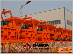 Stationary volumertric concrete mixers