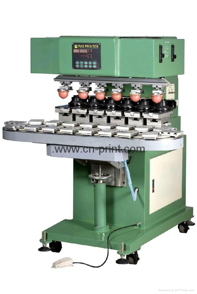 6 colors ink cup pad printing machine