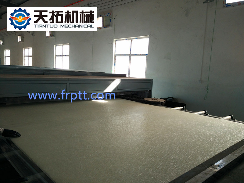 FRP gel coat flat sheet production line