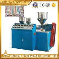 three color drinking straw making machine