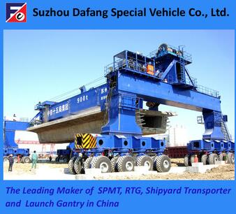 Shipyard Transporter, 900t Rubber Tyre Container Launch Gantry Crane