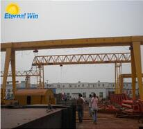 Box-shaped single girder 5ton gantry crane