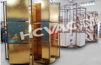 Gold ceramic tiles vacuum coating equipment, ceramic mosaic PVD gold plating machine