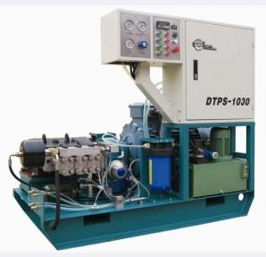 DTPS-1030 DTPS-7530 Three Plunger Pump UHP Waterjet Cleaning