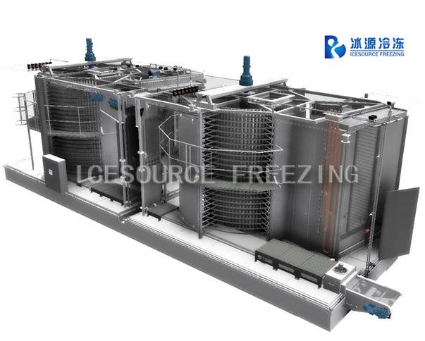 Двухспиральная машина быстрого замораживания