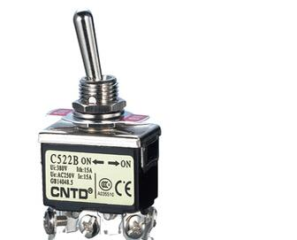 CNTD Professional Suppliers 12MM High Quality Silver Contacts Toggle Switch C522B ON-ON