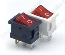 MINI square 3 pin rocker switch with red light