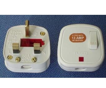 13A UK plug with a swtich