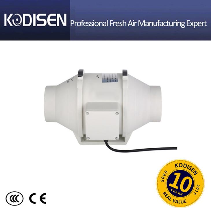 Mixed flow In-line fan exhaust duct fan