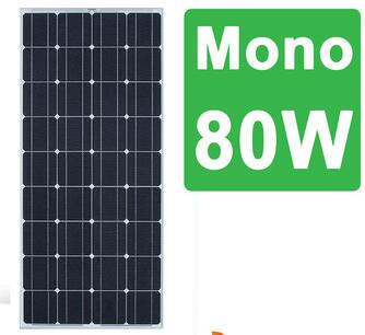 Bluesun high efficiency Pv Module 4BB protable Mono 80wp panel solar for home
