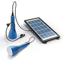 Portable solar lighting kit