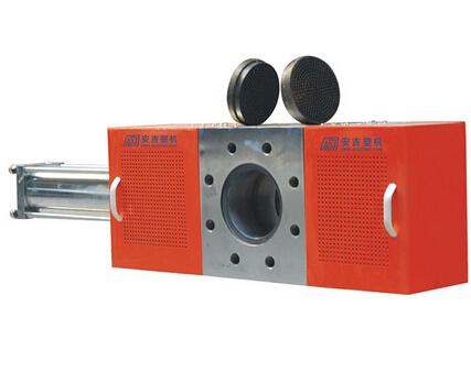 Single-plate hydraulic melt filter