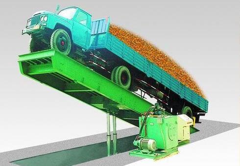 Установка автомобиля для разгрузки насыпного зерна