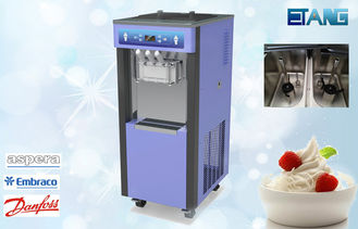3 Phase Commercial Ice Cream Maker, 3 Flavors 50 Liters / Hour