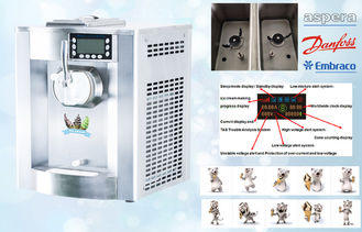 Commercial Automatic Countertop Soft Serve Machine, 12Liters / Hour , Single Flavor , Home Use
