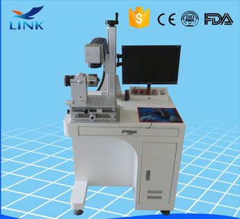 30W MAX Laser Source Desktop Fiber Laser Marking Machine for Cellphone Case/Laser Marking Machine with Auto Up-down platform