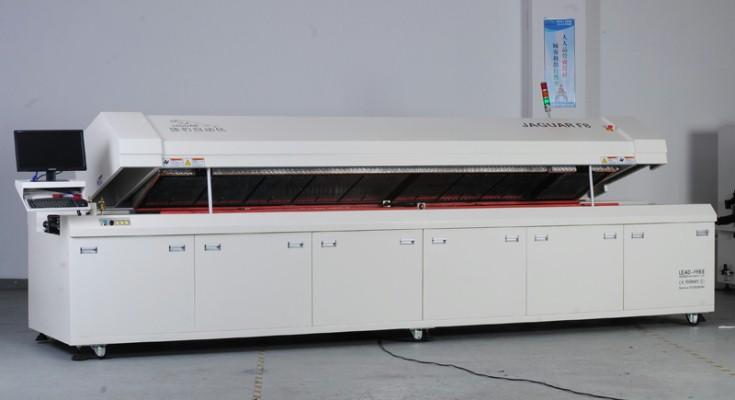 大型八温区电脑无铅回流焊F8