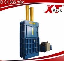 Vertical hydraulic baling press automatic trash baler