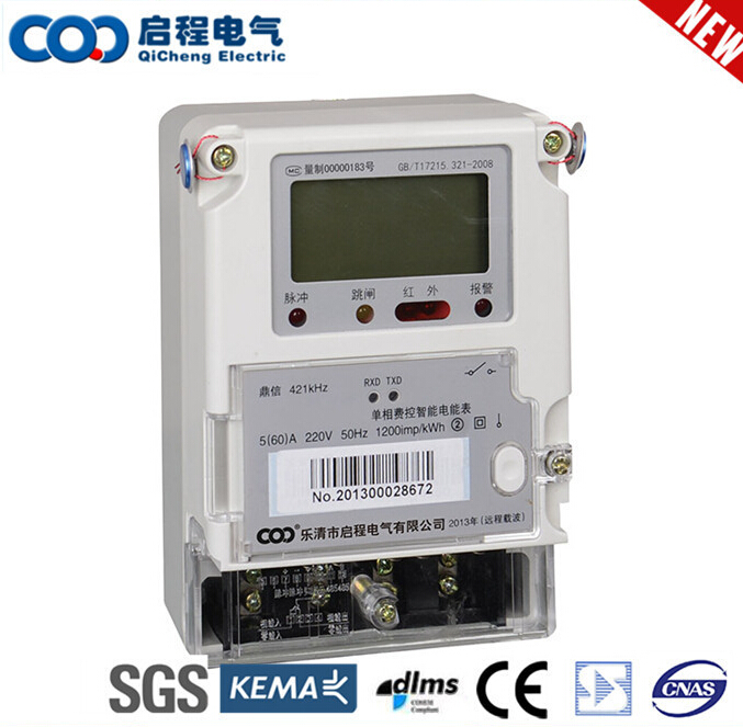 Compact Low Price China Made Network Tariff Control Electricity Card Meter