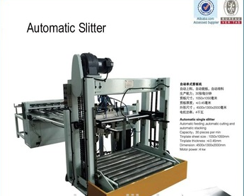 Automatic tinplate sheets single slitter machine