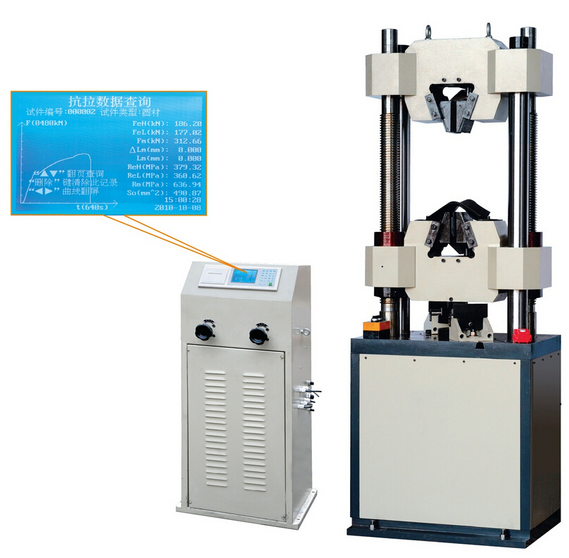 WE-300B LCD Display Hydraulic Universal Testing Machine
