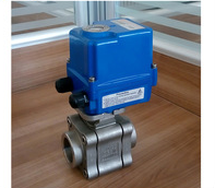 3 pc wog 220v motorized ball valves stainless