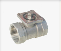High quality low price thread 1-piece screwed ball valve with handle