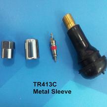 Chrome metal cover tubeless tire valve stems TR413C