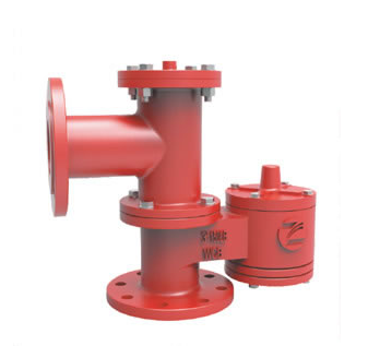 PRP Pressure vacuum relief valve piped away