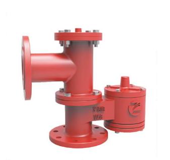 PRP Pressure vacuum relief valve piped away