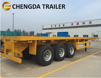 3 Axles 40ft Flatbed Semi Trailer