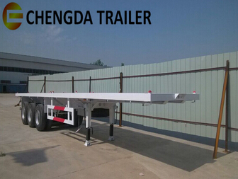 3 Axle 40tons 40ft container Flat bed Trailer