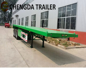Tri-Axle Flatbed Container Semi Trailer