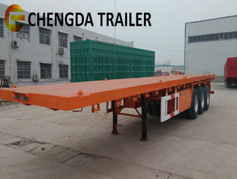 20ft and 40ft 40tons Flatbed Trailer 3 Axle