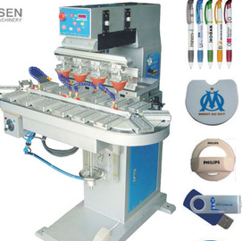 Four color conveyor pad printer