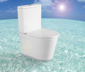 A2508 china manufacture p trap two piece toilet