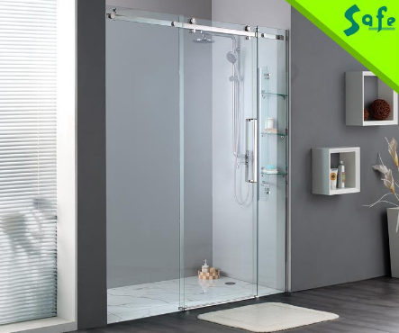 Stainless steel frameless glass doors sliding shower door roller