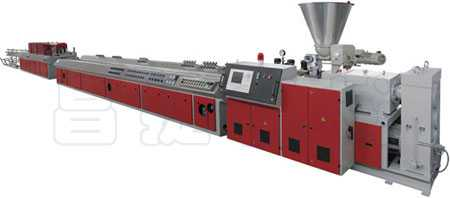 PVC, PE, PP WOOD-PLASTIC PROFILED MATERIAL PRODUCTION LINE