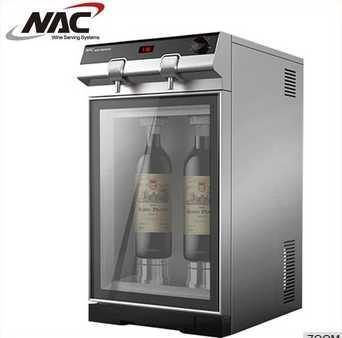 Family uses wine dispenser