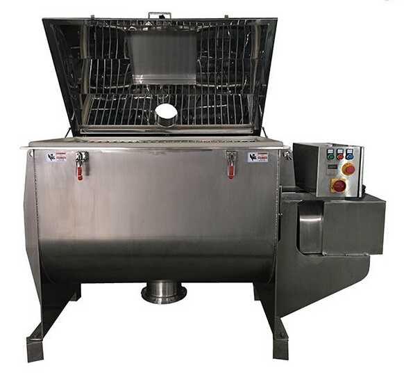 Profession SUS304 powder mixer machine for fish collagen powder /different powder granule