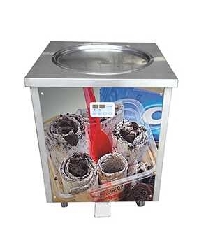 Single Pan Thailand Roll Fried Ice Cream Machine / Ice Cream Cold Plate / Fry Ice Cream Machine